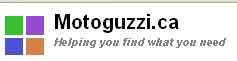 Helping you find what you need?  What I needed was Moto Guzzi's website you scum sucking cybersquatter!