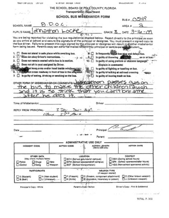 Jonathan Locke Jr.'s suspension form (click to enlarge)