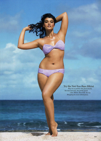 Plus size model, Crystal Renn
