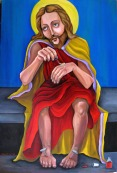 Jesus Does His Nails by artist Dana Ellyn