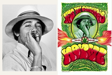 The Original Work on the Left:  The NORML Campaign Poster on the Right.  Fair use or not?