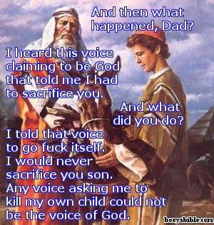 abraham tells god to fuck off