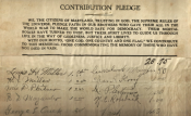 The fundraising pledge for the Bladensburg Cross